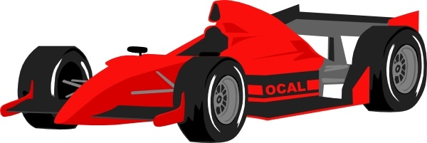 Formula One Car clip art Free vector in Open office drawing svg.