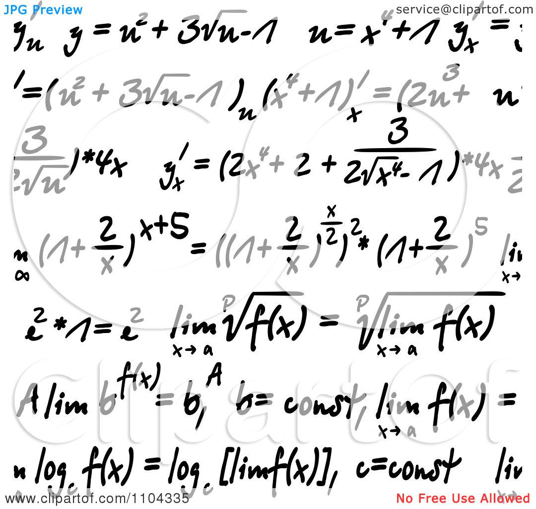Formulas clipart.