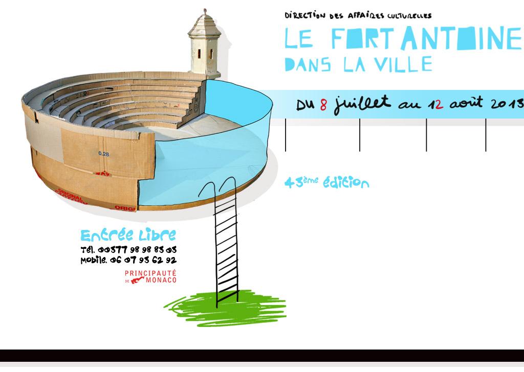 Théâtre : Le Fort Antoine prêt à être assiégé.