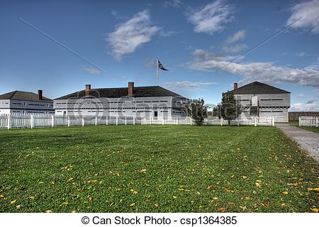 Stock Images of Fort George National Historic Site, a historic.