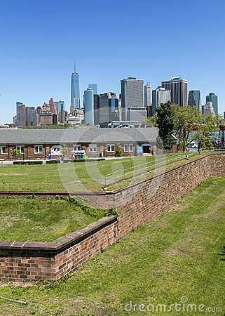 Manhattan, New York City Seen From Fort Jay On Governors Island.