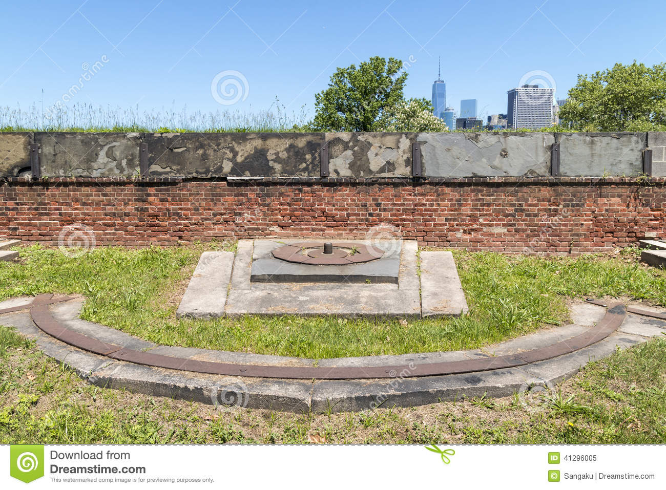 Fort Jay On Governors Island In New York City Stock Photo.