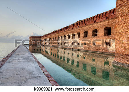 Stock Photography of HDR of Fort Jefferson k9989321.
