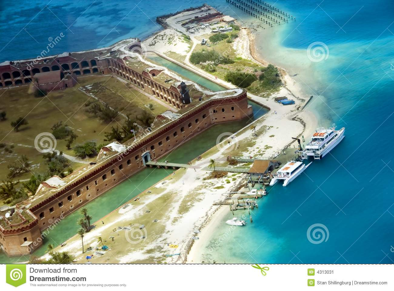 Fort Jefferson Royalty Free Stock Images.