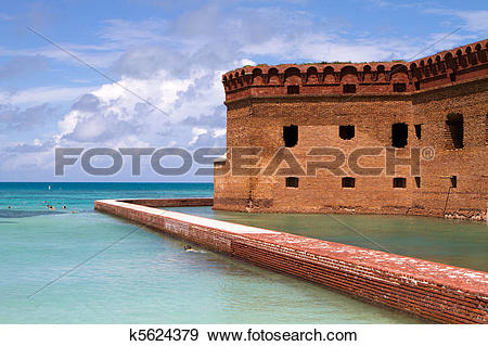 Stock Photograph of Snorkelers Fort Jefferson k5624379.