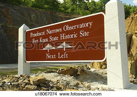 Stock Photo of Bucksport, ME, Maine, Penobscot Narrows Observatory.