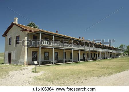 Stock Photo of Fort Laramie, WY, Wyoming, Fort Laramie National.