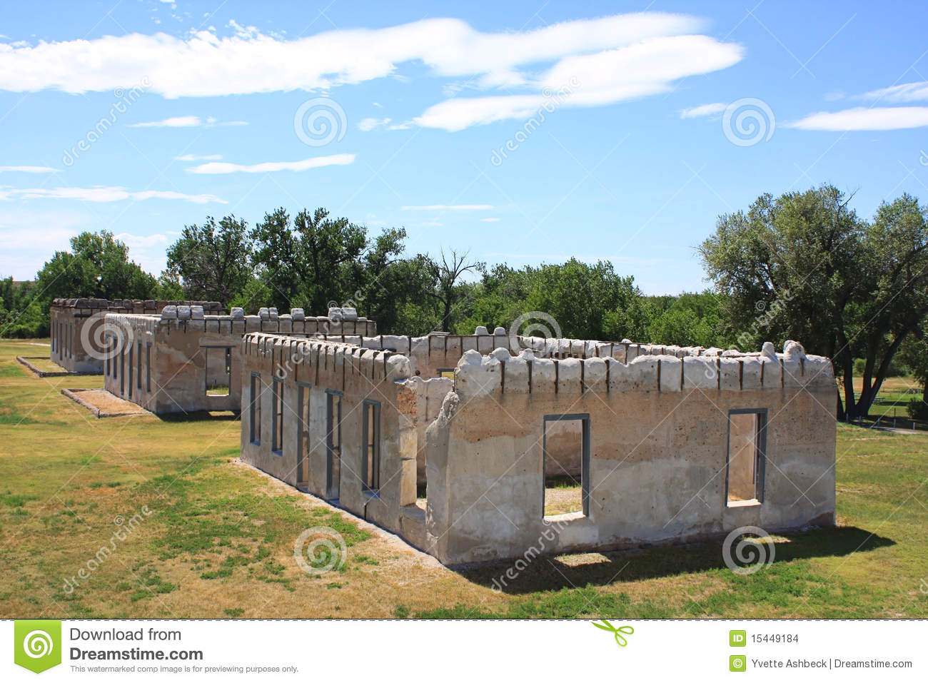 Fort Laramie National Historic Site Stock Images.