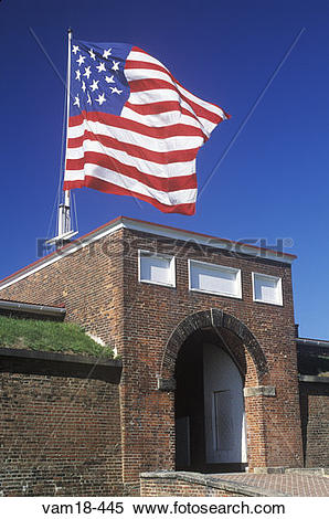 Stock Image of Fort McHenry National Monument in Baltimore, MD.
