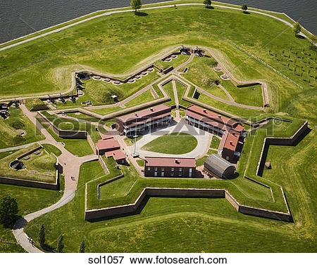 Picture of Aerial view of Ft. McHenry in Baltimore, MD sol1057.