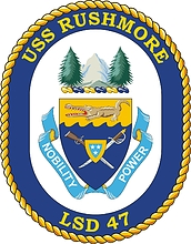U.S. Navy USS Fort McHenry (LSD 43), dock landing ship emblem.