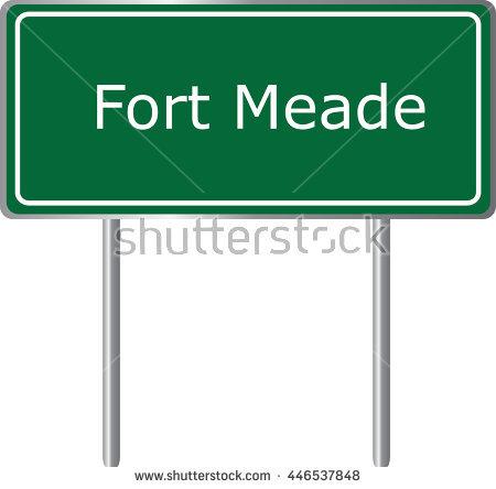 Fort Meade , Florida, Road Sign Green Vector Illustration, Road.