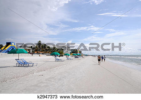 Stock Photo of Fort Myers Beach, Gulf of Mexico Coast, Florida.