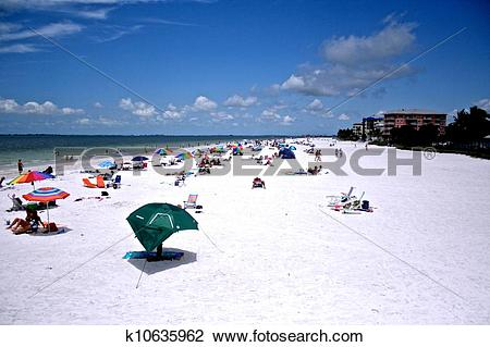 Stock Photo of Fort Myers Beach k10635962.