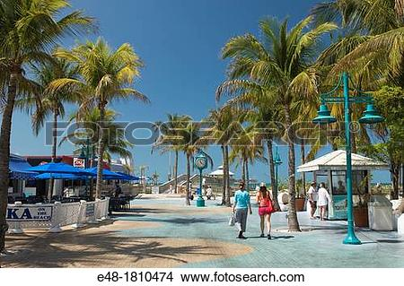 Stock Photo of TIMES SQUARE PEDESTRIAN MALL FORT MYERS BEACH.