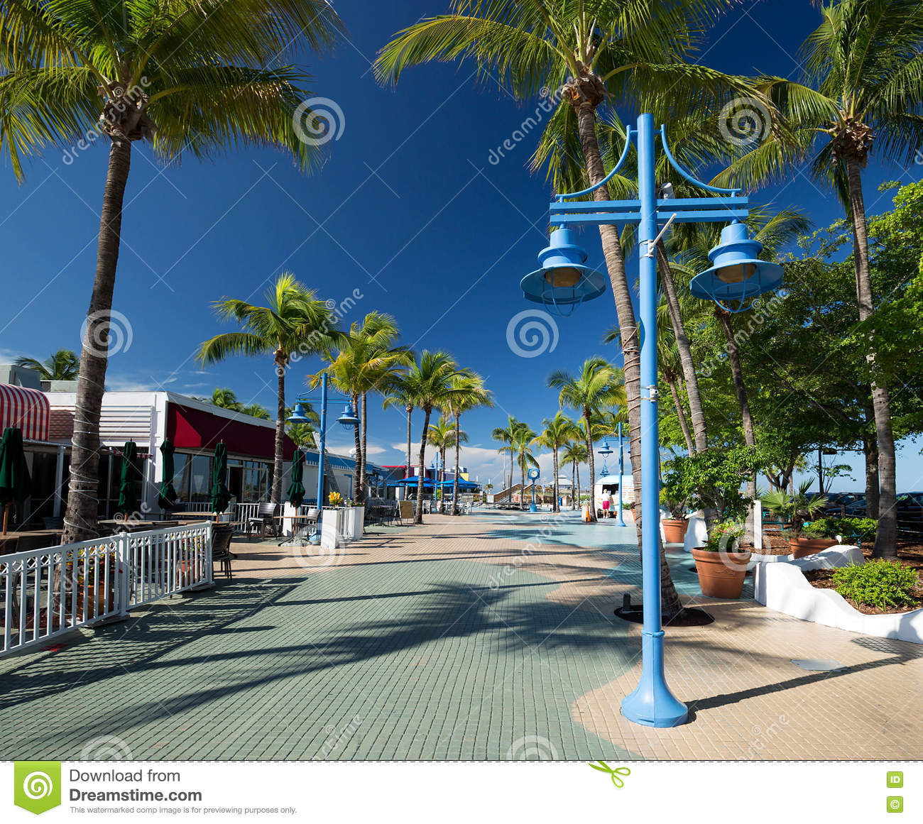 Fort Myers Beach, Times Square Clock Stock Photo.