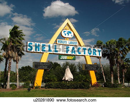 Stock Photography of Fort Myers, FL, Florida, Shell Factory.
