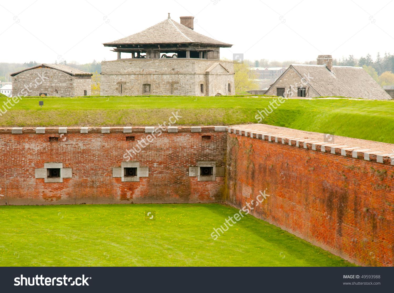 Fort Niagara Brick Walls And Tower Stock Photo 49593988 : Shutterstock.