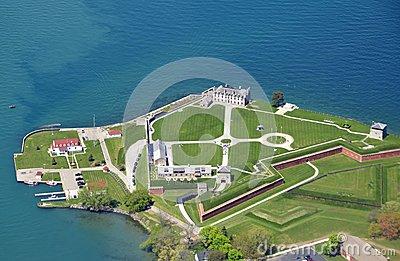 Old Fort Niagara In New York Stock Photo.