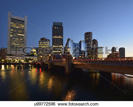 Stock Images of Congress Street Bridge in Fort Point Channel.