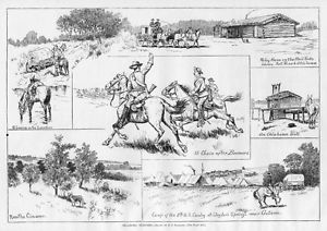 HORSES OKLAHOMA BOOMERS RELAY HOUSE MAIL ROUTE FORT RENO GUTHRIE.