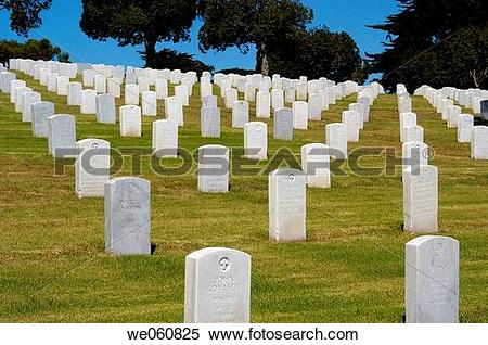 Stock Image of Fort Rosecrans National Cemetery, Point Loma, San.