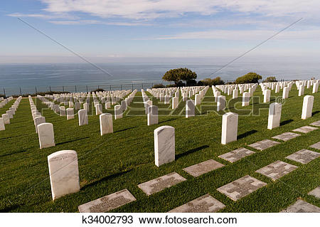 Stock Photo of Fort Rosecrans National Cemetery Cabrillo National.