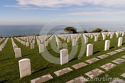 Fort Rosecrans National Cemetery Cabrillo National Monument Stock.