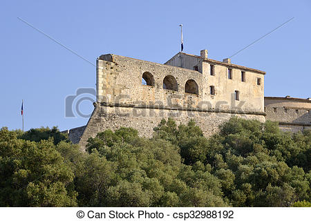 Stock Photographs of The fort Carr from Antibes France.
