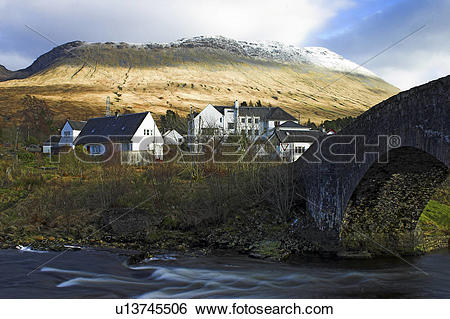 Stock Images of Scotland, Highland, Fort William, Bridge of Orchy.