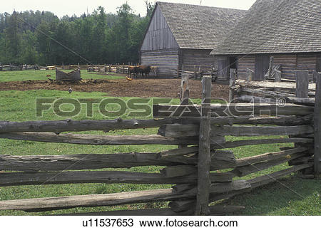 Stock Photo of Thunder Bay, Canada, Ontario, Farm at Old Fort.