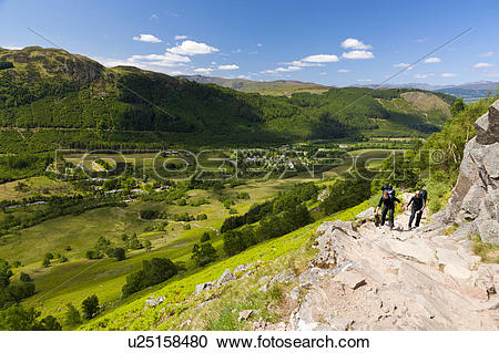 Stock Photography of Scotland, Highland, Fort William. Walking.