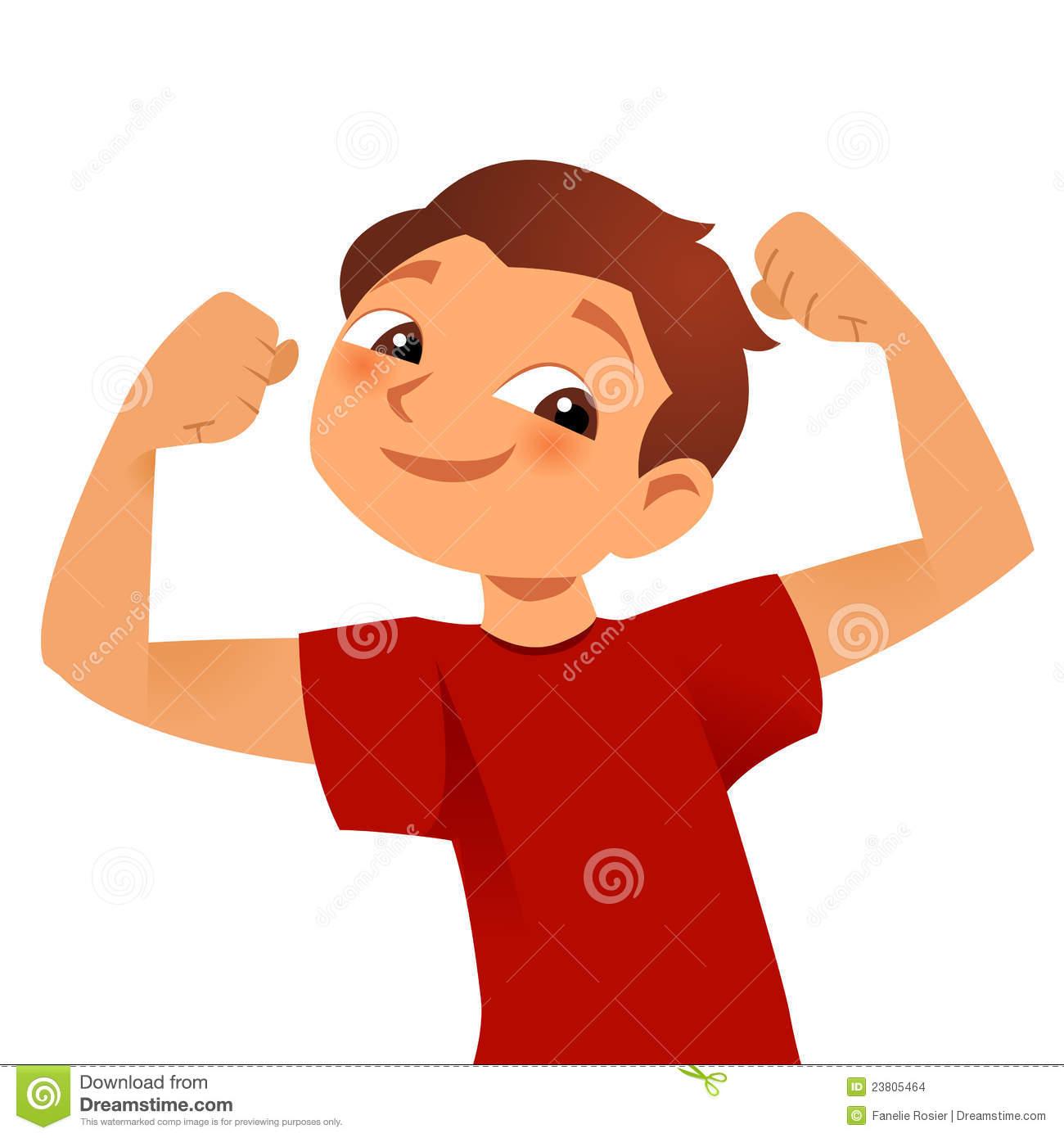 Muscle Boy Clipart.