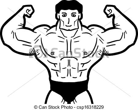 Vector Illustration of Strong man.