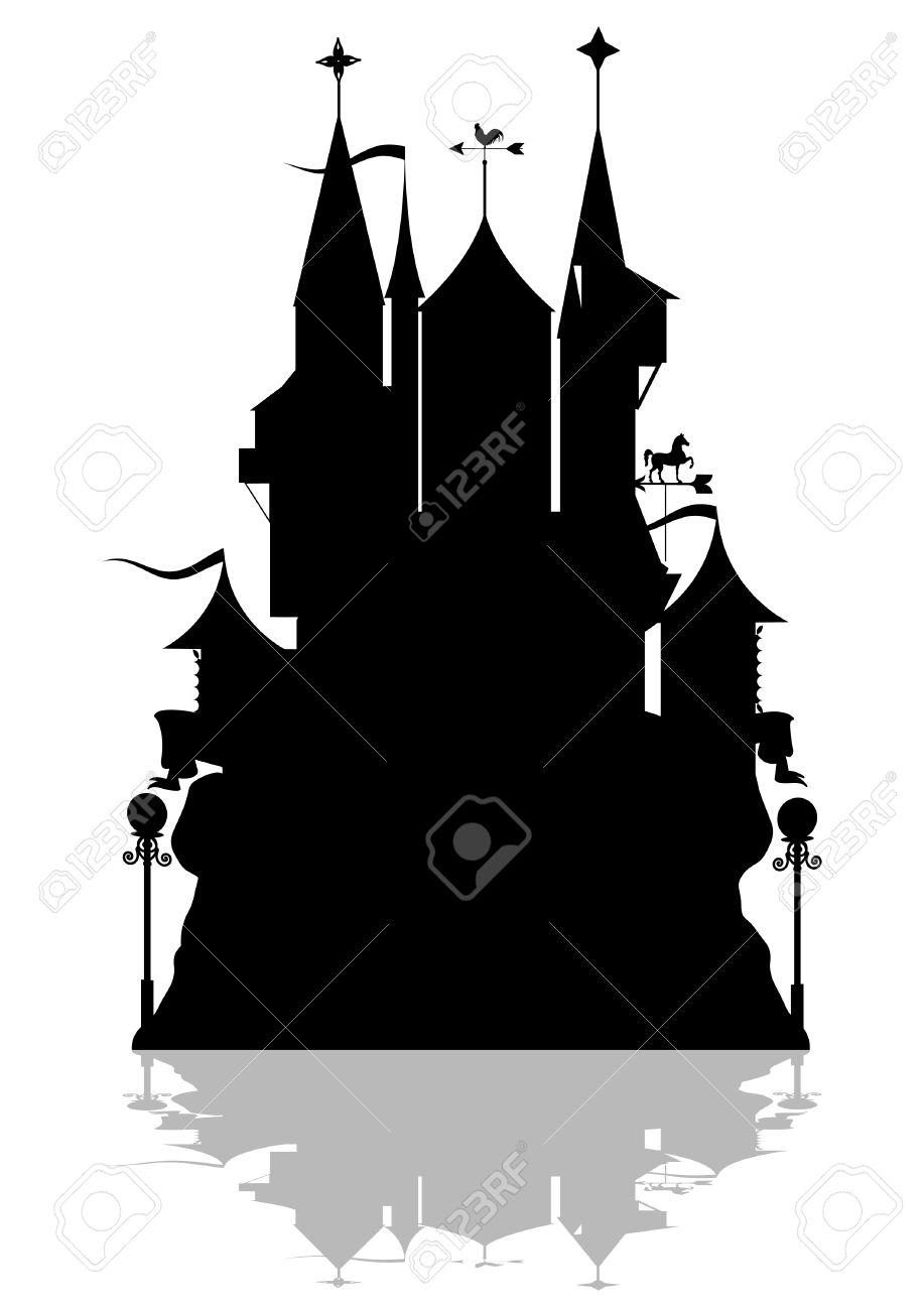 Un Fantastico Esempio Di Fortezza. Clipart Royalty.