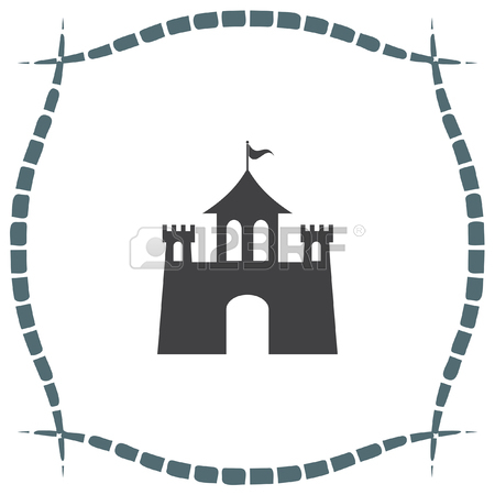 Castello Di Set Di Icone. Fantasy Segno Fortezza. Simbolo Edificio.