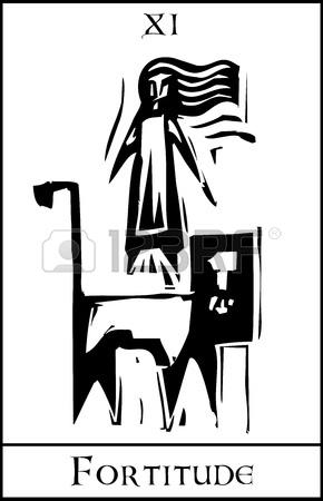 Xilografia Tarocchi Maggiore Immagine Stile Espressionista Arcani.
