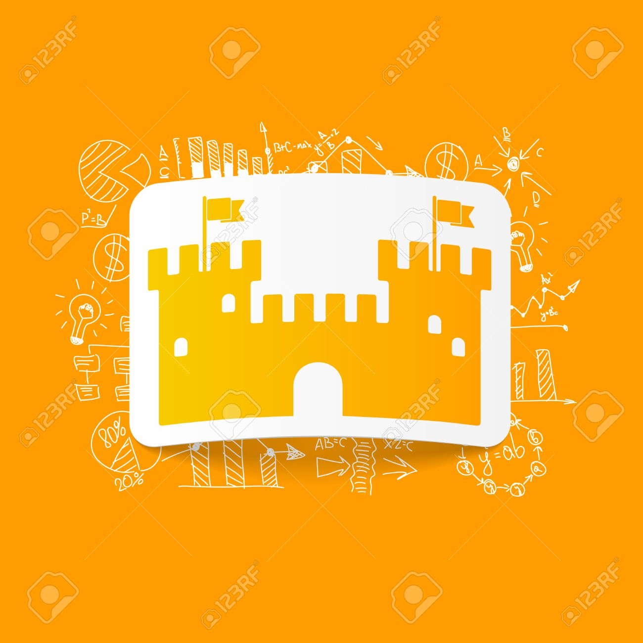 Disegno Formule Commerciali: Fortezza Clipart Royalty.