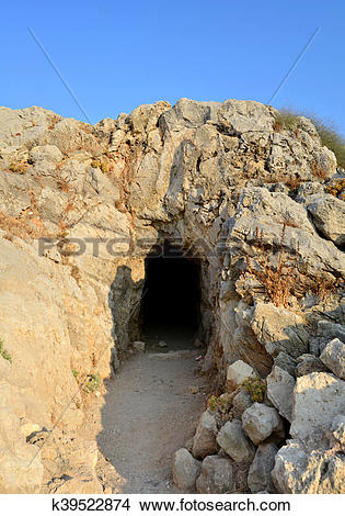 Stock Photo of Rethymno Fortezza fortress cave k39522874.