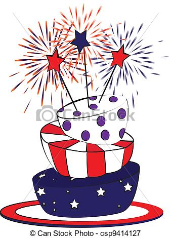 July Birthday Clipart.