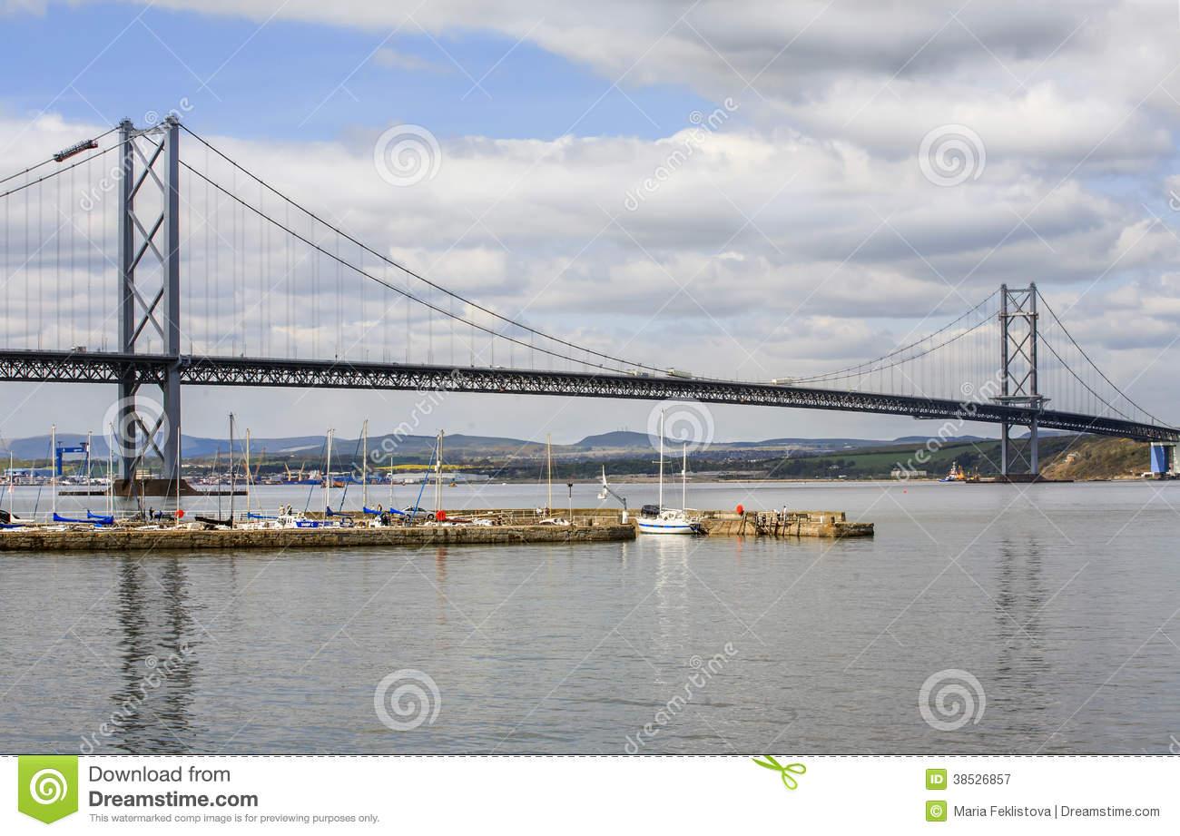 The Forth Road Suspension Bridge, Scotland Editorial Photography.