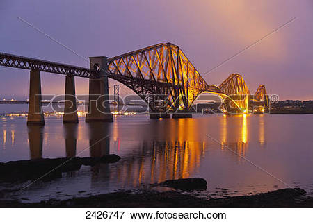Picture of Forth Road Bridge at Queensferry, North of Edinburgh.