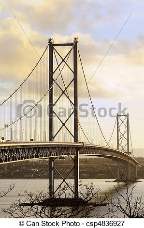 Picture of The Forth Road Bridge.