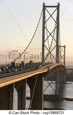 Stock Photo of Forth Road Bridge.