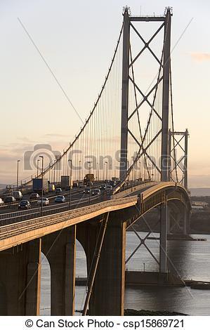 Stock Photo of Forth Road Bridge.