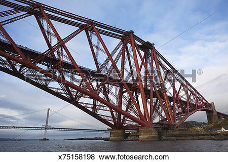 Pictures of Forth Rail Bridge and Forth Road Bridge x75158198.