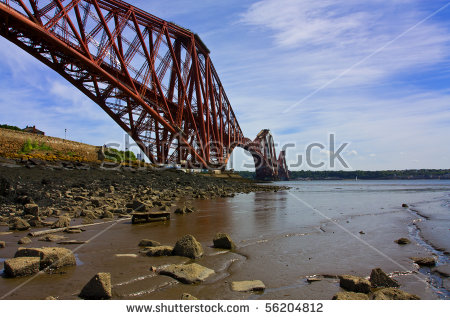 Forth Rail Bridge Stock Images, Royalty.