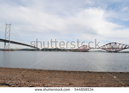 Forth Cantilever Railway Bridge Famous Forth Stock Photo 304396400.