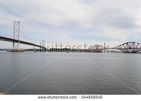 Forth road railway bridge clipart #14