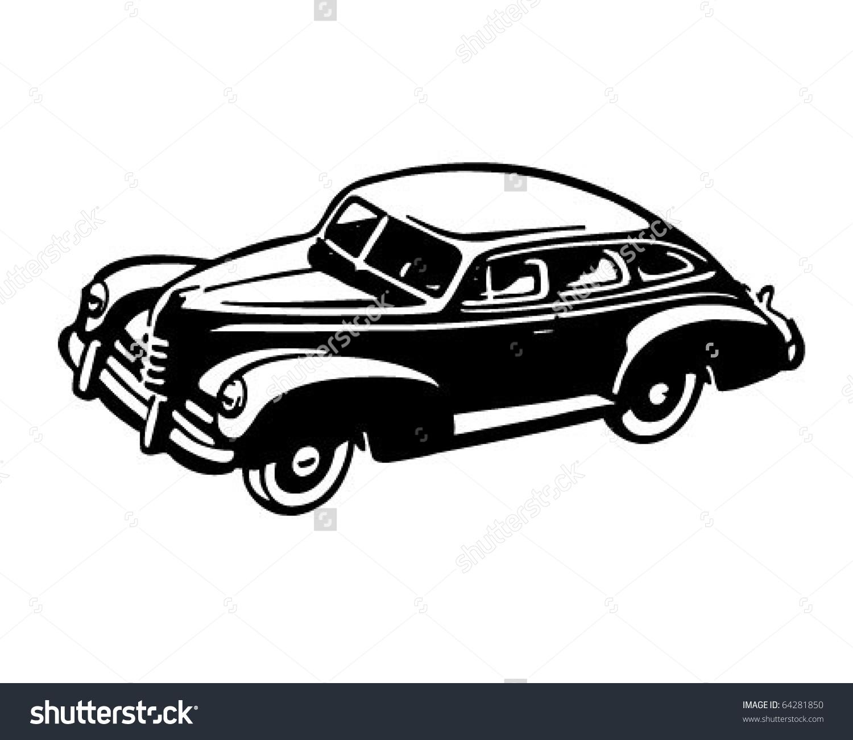 Forties Car Retro Clipart Illustration Stock Vector 64281850.